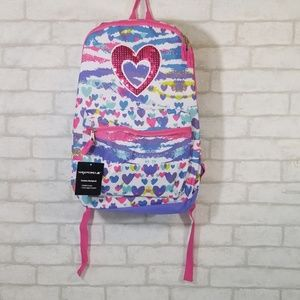 Wexford heart multi-colored fashion backpack
